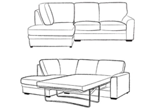 3 x Chaise Corner Sofabed