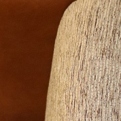 Brown Leather Grey Fabric mix