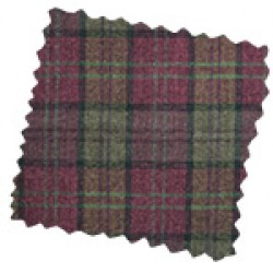 Lana claret plaid
