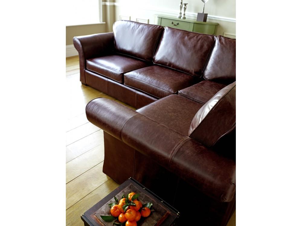 Chatsworth Leather Corner Sofa Bed
