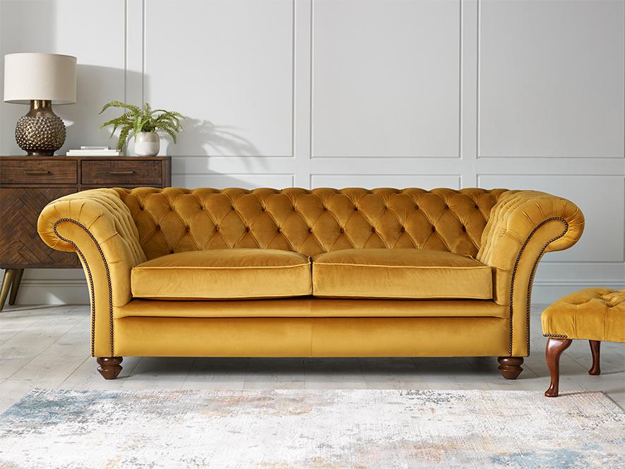 fabric buttoned sofa