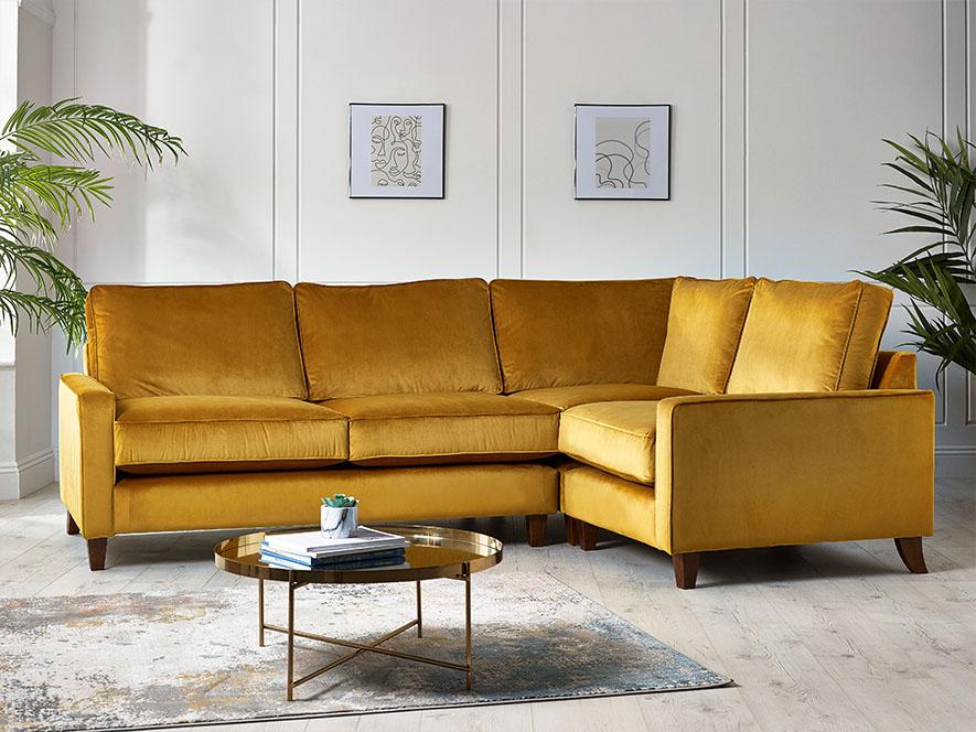 fabric deep corner sofa