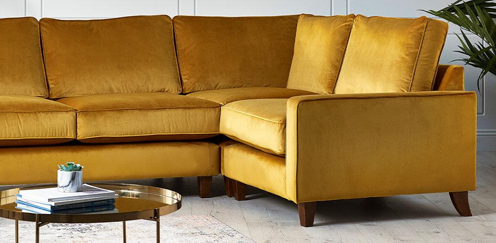 comfy fabric corner sofa